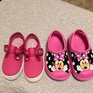 Disney Minnie lot! Sz 7 baby toddler pink